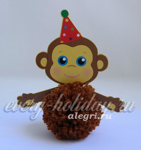 обезьянка из ниток_4