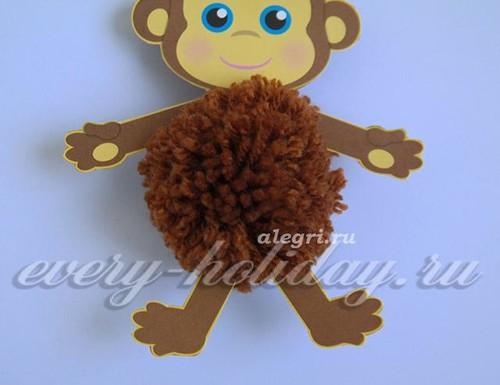 обезьянка из ниток_5