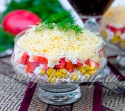 крабовый салат рецепты с фото простые