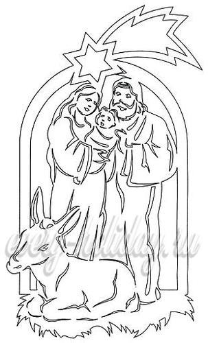 рождественские трафареты
