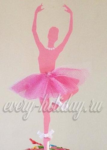 Балерина из бумаги и фатина