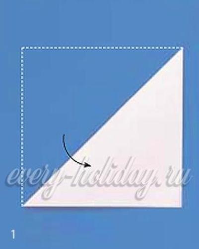 Делаем снежинку из бумаги