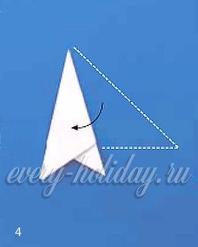 Снежинка для балеринки из бумаги