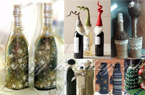 декор бутылок шампанского