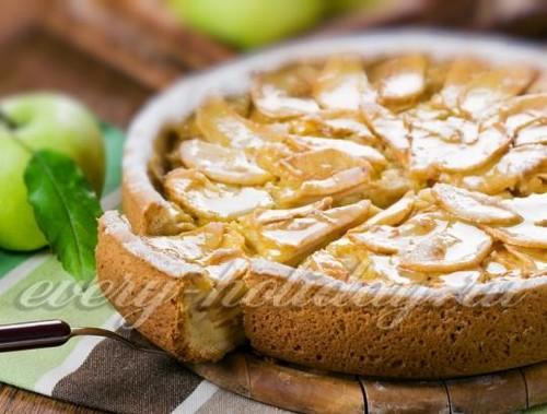 шарлотка с персиками в духовке рецепт с фото