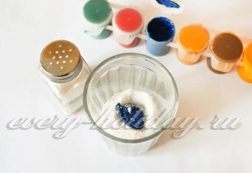 Как сделать цветную соль для поделок