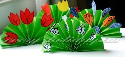Праздничный декор: бумажный веер