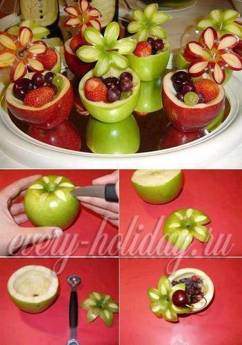 Как красиво нарезать фрукты на стол в домашних условиях