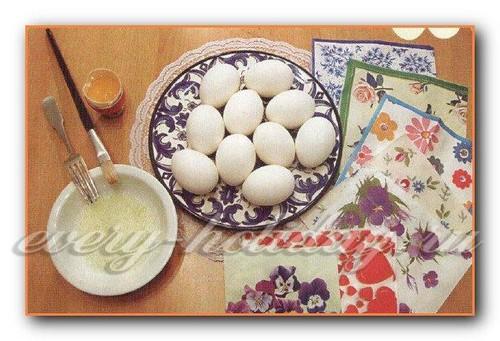 Пасхальные яйца, декупаж салфетками, мастер класс