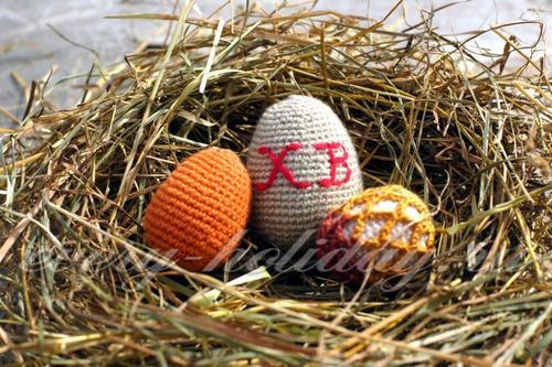 Пасхальные яйца крючком: схемы, мастер класс