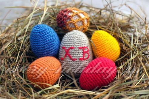 Пасхальные яйца крючком: схемы