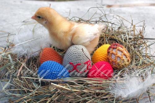 Пасхальные яйца крючком (мастер класс)