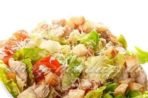 Простой рецепт салата цезарь с майонезом