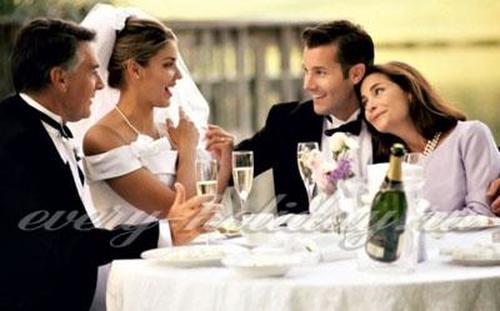 Слова благодарности родителям на свадьбе от жениха и невесты