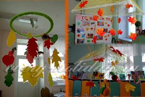 Как украсить группу в детском саду к осени