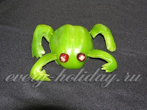 Поделка лягушка из перца