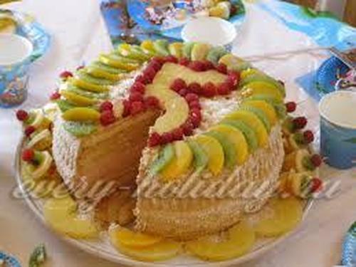 Как украсить детский торт фруктами в домашних условиях