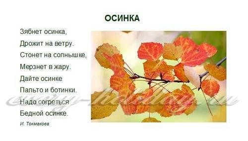 Стихи про осень для детей 3-4 лет, короткие