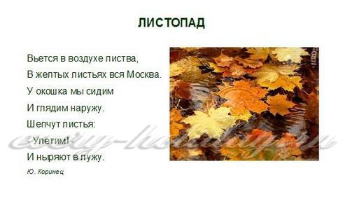 Стихи про осень для детей 3-4 лет
