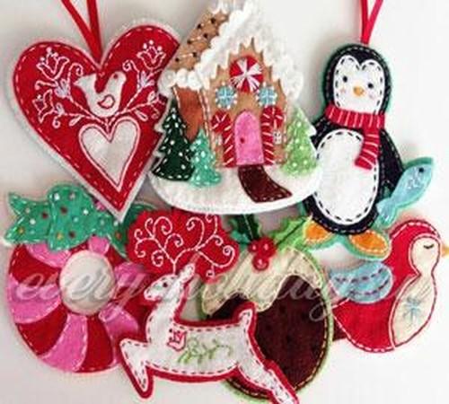 Новогодние поделки из фетра своими руками с выкройками