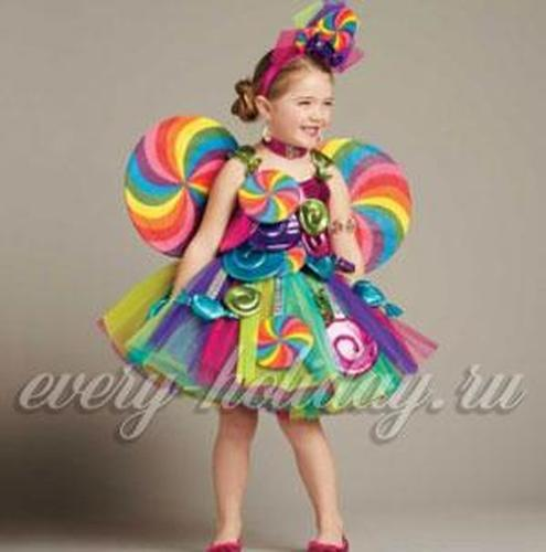 Костюм конфетки для девочки своими руками