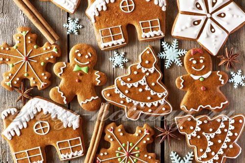 Новогодние трафареты для пряников и печенья