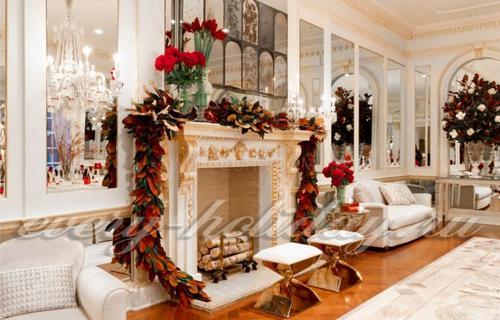 Wie Man Einen Kamin Für Das Neue Jahr Und Weihnachten Beliebte Frage Am  Vorabend Des Feiertags Verzieren. Jede Gastgeberin, Ist, Wie Es Sein Haus  In Den ...