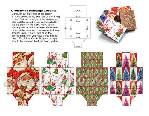 Коробочки для подарков своими руками, шаблоны на Новый год