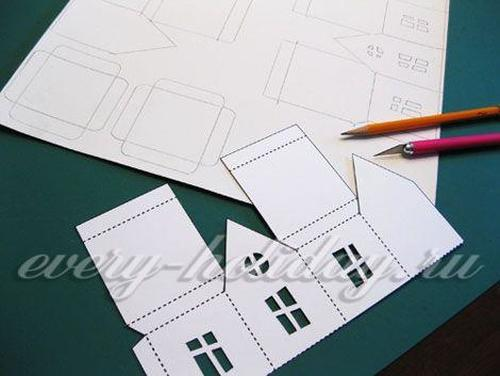 мастер класс домик из бумаги