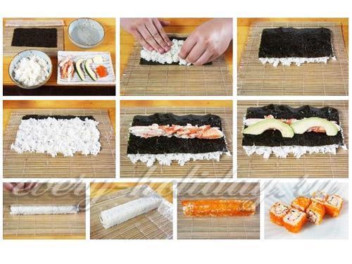 Пошаговое приготовление суши с картинками