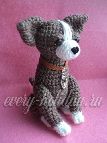 вязанная собака