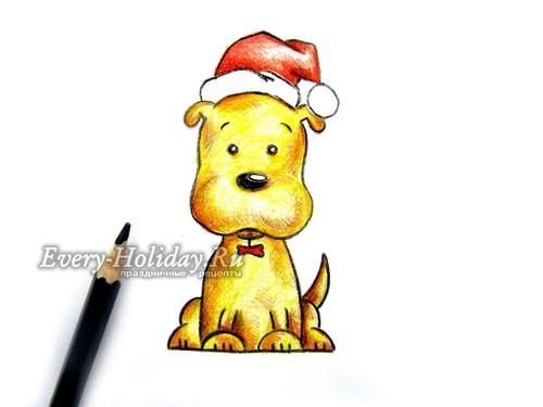 Создаем контур всего рисунка и получаем собачку