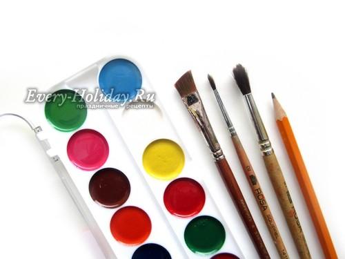 краски и карандаши для рисования