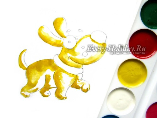 используем желтые краски