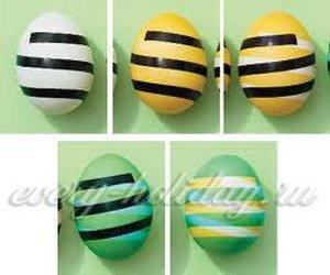 Покраска яиц на пасху способ 3