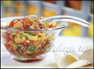 Греческий салат для пикника