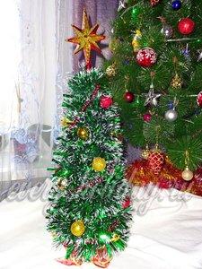 украсить елку из мишуры