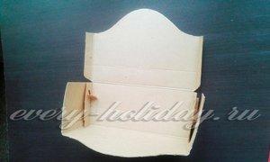 Боковые стороны коробки обрезать до нужной величины