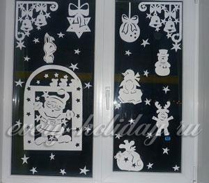 Трафарет оленя новогоднего для вырезания: шаблоны