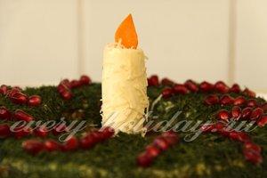 Салат с говядиной «Рождественский венок»