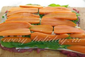 морковь разложите