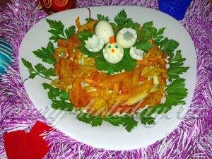 новогодний салат с курицей