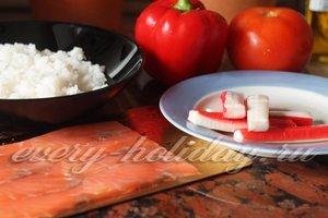 Состав продуктов для салата Дед Мороз