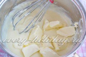 добавьте сливочное масло