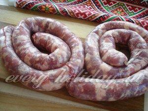 Колбасы делать длиной 60-70 сантиметров
