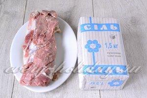 Ингредиенты для приготовления сыровяленного мяса