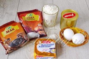 Ингредиенты для приготовления торта Муравейник