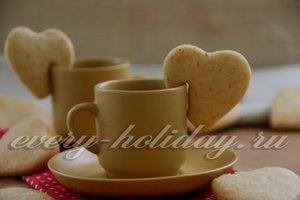 прикрепить печенье на чашку