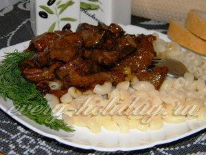 рецепт печени со сметаной