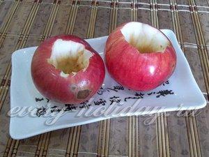 вырежете сердцевину у яблок